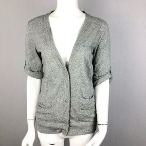J. Crew Gray Button Up Cardigan Size XS